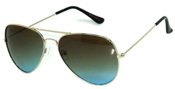 17078d75d2 Classic Aviator Style Sunglasses Metal Frame Colored Lens UV Protection OWL®